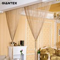 2 9x2 9m Shiny Tassel Flash Silver Line String Curtain Window Door Divider Sheer Curtains Valance