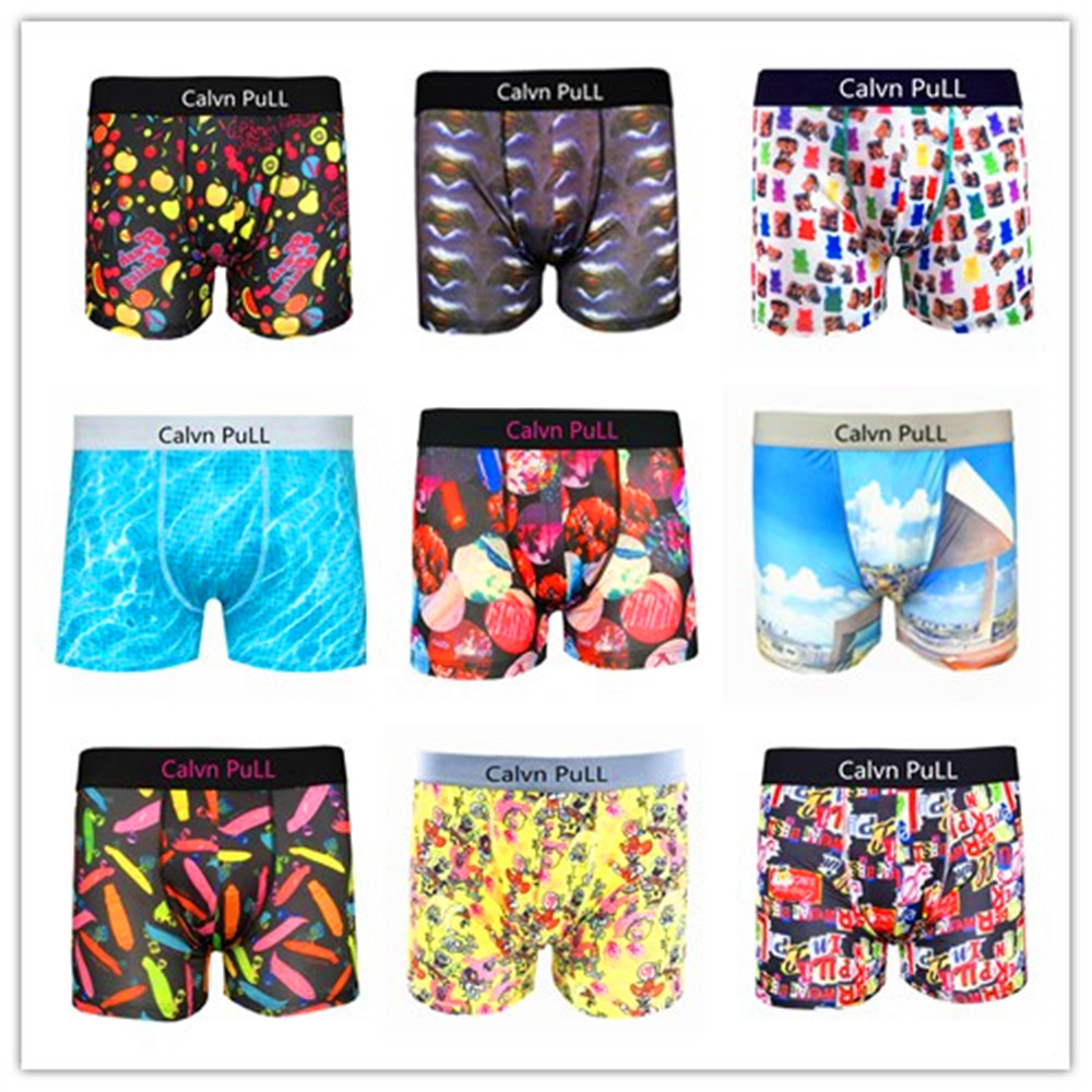 Promotion 2017 Calvn Pull Brand Sexy Men Underwear Boxer Shorts Trunks 100% Lycra Material Spandex TRUNK MASTER In Mix Order(China (Mainland))