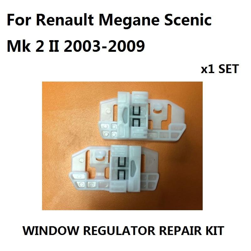 For Renault Megane Scenic Mk 2 II Window Regulator Repair Kit Clip FRONT LEFT AND RIGHT- NEW 2003-2009