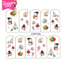 Merry Christmas Nail Art Gel Polish Water Transfer Stickers for Manicure Beauty DIY Nail Tools Acrylic Decals 1PCS