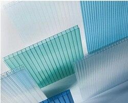 Упаковка из 100 квадратных метров 10 мм TwinWall УФ-защита двухслойные конфигурации многослойный поликарбонатный лист