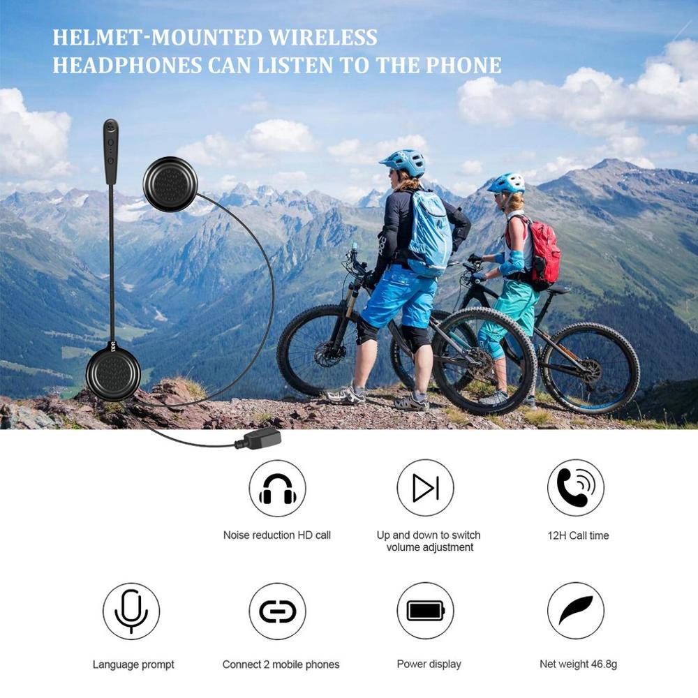 Wireless Motorcycle Helmet Headset E1 Csr Chip Automatic Answering Phone Music Comes With Power Amplifier|Helmet Headsets| |  - title=