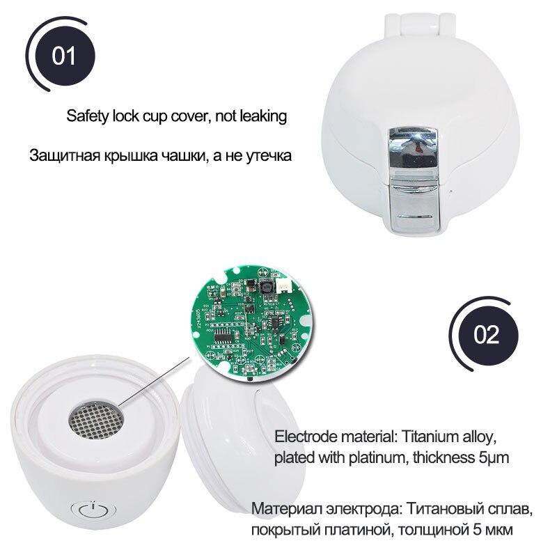 SYNTEAM Brand SPE/PEM Membrane Hydrogen Generator H2 Rich Hydrogen Bottle Electrolysis Alkaline Water Ionizer USB Rechargeable