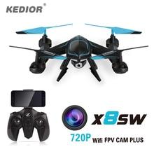 2017 Новый X8SW Wi-Fi Drone RC quadcopter с 720 P Wi-Fi FPV HD камера Или 1080 P HD Камера Безголовый Quad вертолет вертолет