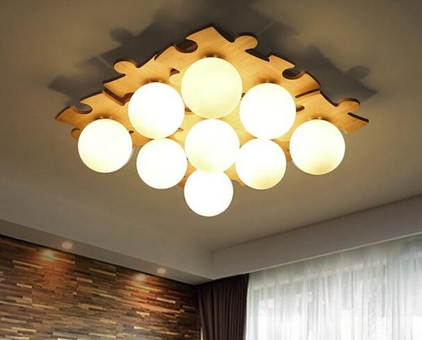 Japanese solid wood ceiling light simple creative Nordic logs living room lights warm wooden bedroom lights DIY CL MZ121 nordic japanese creative clouds led ceiling lamp wooden 24w child baby room lights ceiling lamps bedroom decoration lights 220v