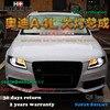 Hireno Car Styling Head Lamp For 2009 12 Audi A4 B8 Headlights LED Headlight Assembly DRL
