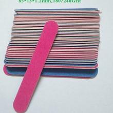 10 шт., 180/240 Грит, профессиональные пилки для ногтей, буферная полировка, Тонкий полумесяц, инструменты для ногтей, одноразовые пилочки для ногтей, высокое качество
