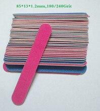 Lima de uñas profesional de grano 180/240, pulidora de uñas fina, herramientas de manicura de alta calidad, desechable, 20 piezas