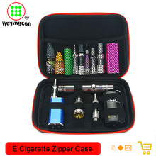 all in one e cig tools bag case for packing atomizer e liquid coil wire e cig cotton tweezer jig coil master bag