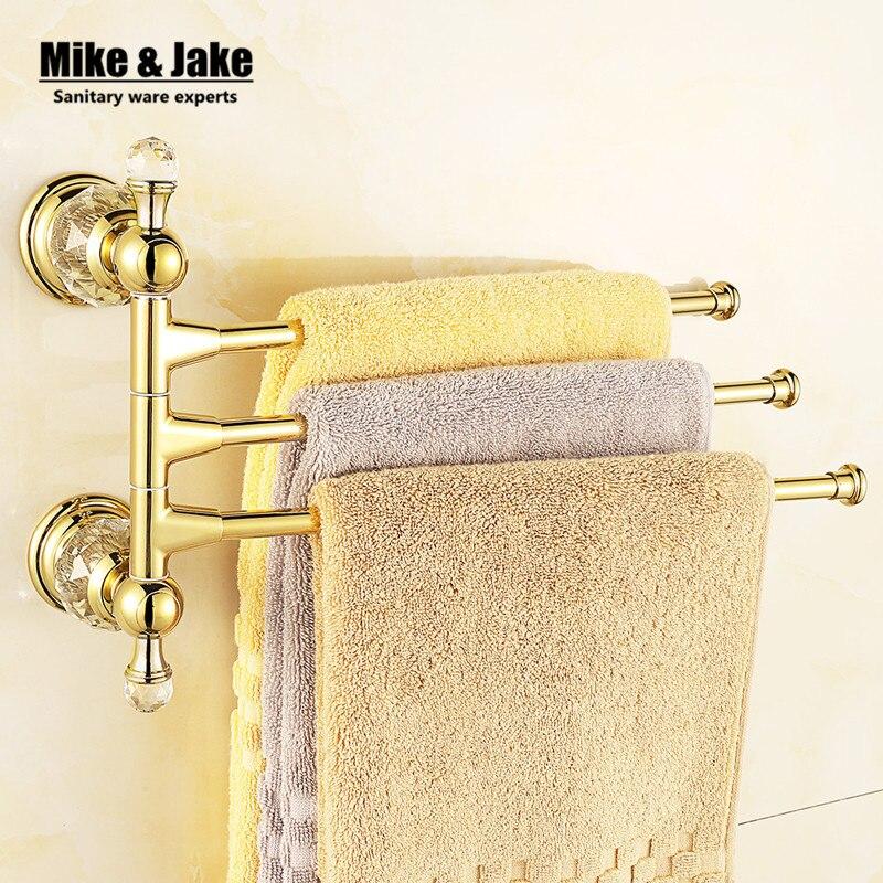 Crystal bathroom Activity towel bar shelf arms Wall crystal Bathroom towel Shelf Bathroom Accessories Towel Bar