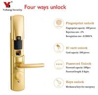 Fingerprint Electronic Door Lock Password Keypad Key Stainless Steel Latch Bolt Zinc Alloy