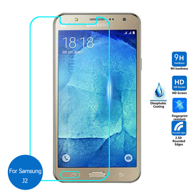 2PCS For Samsung galaxy J2 2015 Tempered Glass Screen Protector Safety Protective Film on J 2 200H 200F SM J200F J200H SM-J200H image