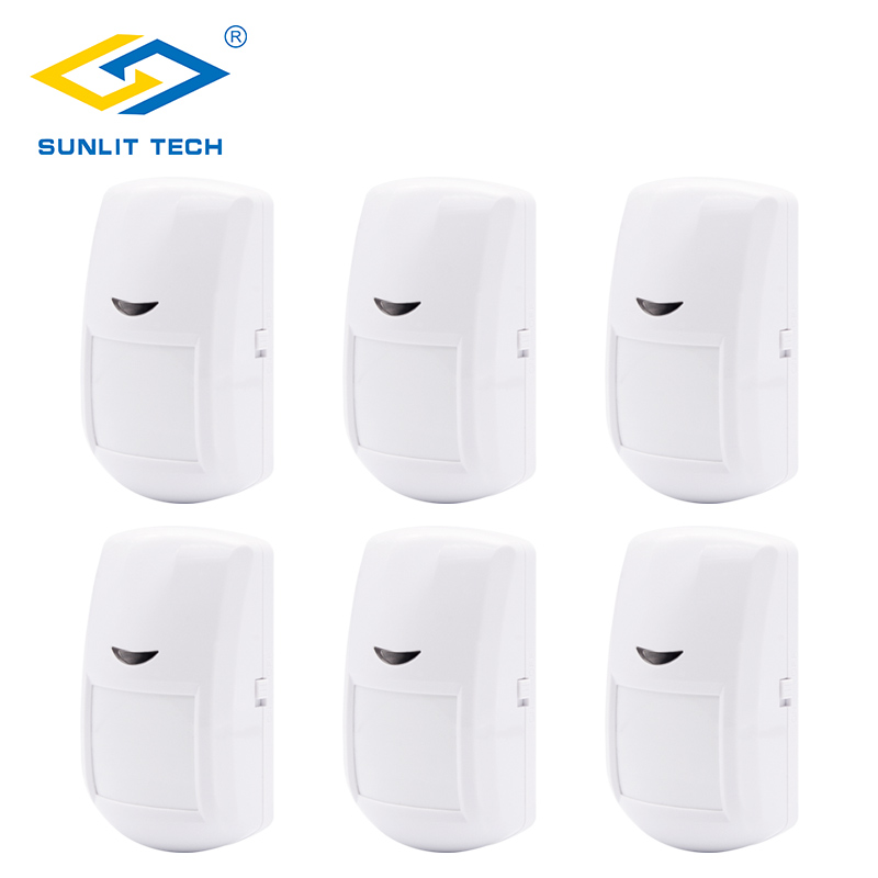 1pc/2pcs/6pcs Lot 433MHz Wireless PIR Motion Sensor Detector for GSM/PSTN Home Security Burglar Alarm System alarma sensor 5pcs lot wireless pir motion sensor detector f touch keypad panel gsm pstn home house security burglar voice alarm system