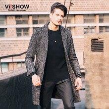 Viishow зима длинное пальто мужчины долго траншеи корейский стиль моды мужские пальто шанца куртки для мужчин одежда f146054