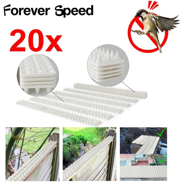 20Pcs Bird Repeller Environmentally Plastic Pigeon Nails Anti-Bird Anti-Dove 49x4.5x2cm Pest Control Spikes Harmless To Animal