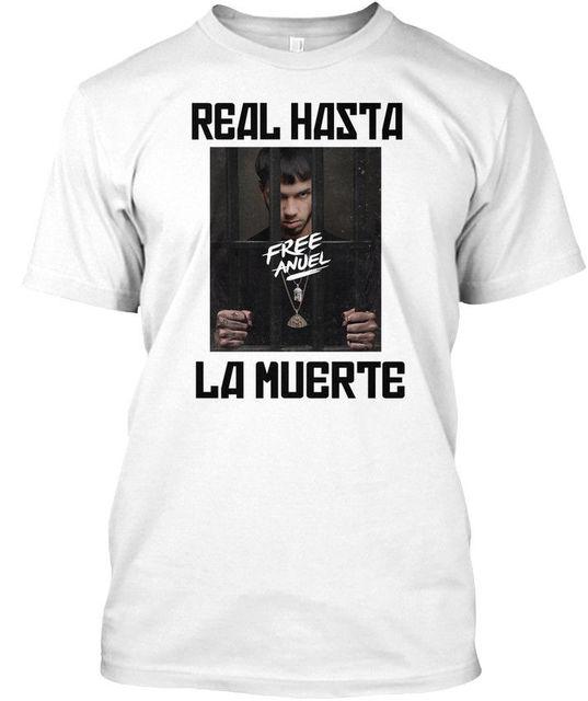 0c0350e796a Free Anuel Aa S Real Hasta La Muerte Premium Tee T Shirt-in T-Shirts ...
