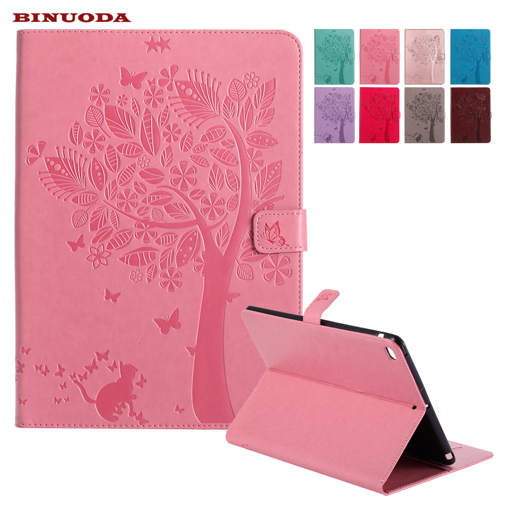 For iPad Air Tablet Case Cat Girl Embossed PU Leather Magnetic Closure Stand Case with Auto Wake/Sleep Smart Cover for iPad Air cover case for huawei p8 lite 2017 half a face of a cat pu tpu leather with stand and card slots magnetic closure