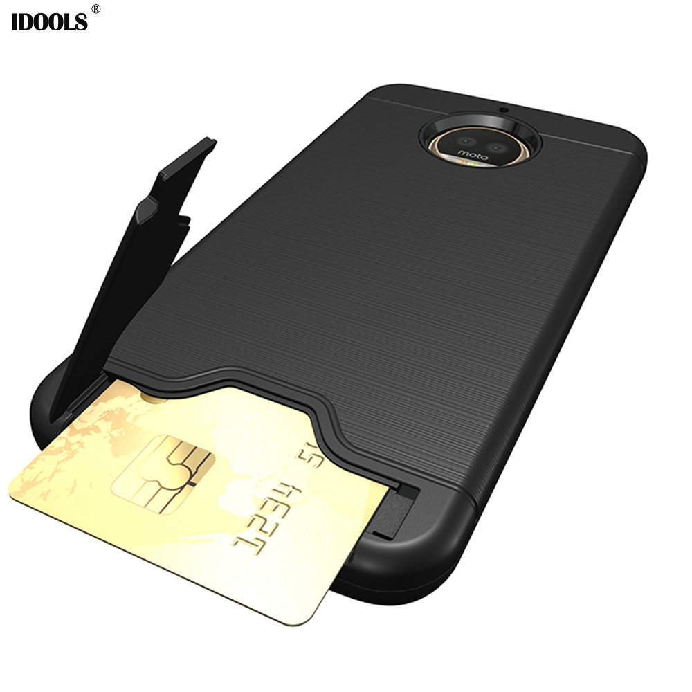 For Motorola Moto G5S Plus Case Kickstand Back Fitted IDOOLS Mobile Phone Bags Cases for Motorola Moto G5S Plus Card Pocket