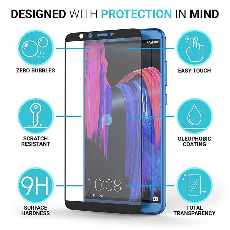 full cover tempered glass screen protector for huawei honor 9 lite 02