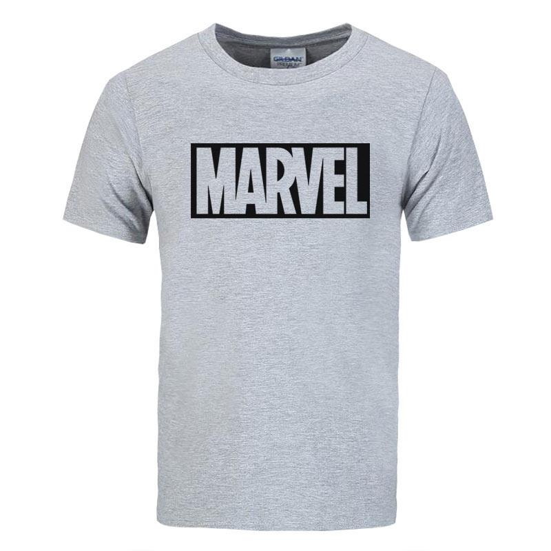 2017 neue Marke Marvel t-shirt männer tops tees Top qualität baumwolle kurzen ärmeln Casual männer t-shirt marvel t shirts männer freies verschiffen