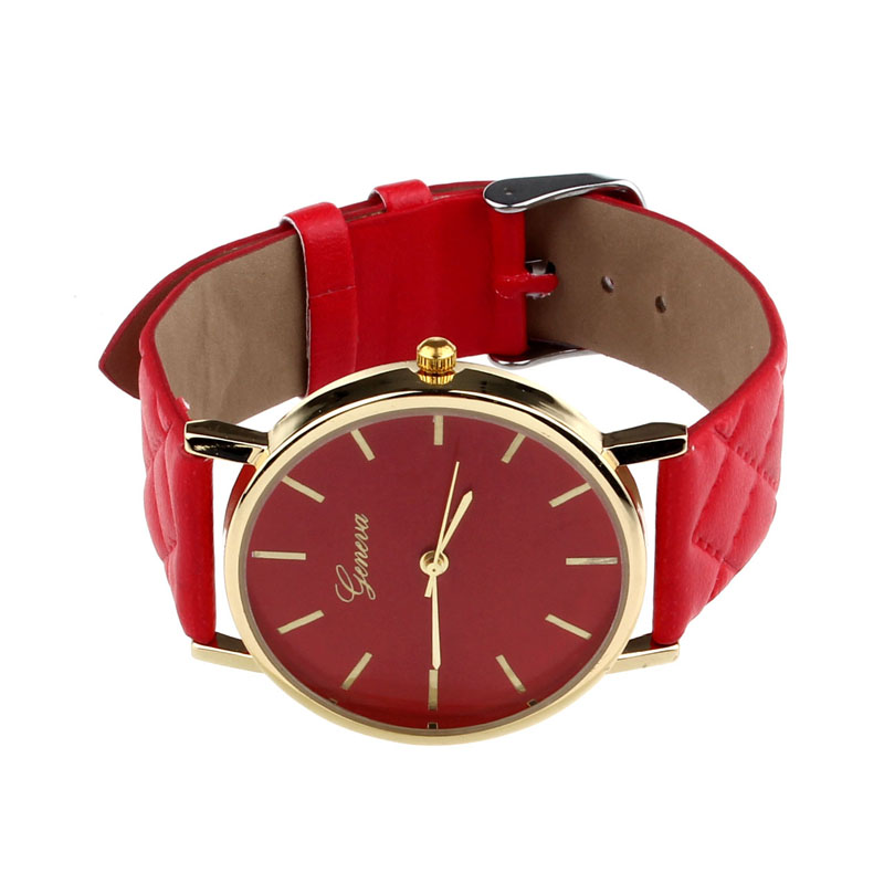 Unisex Casual Geneva Wooden Watch Watch Automatic Crystal Rhinestone Checkers Faux Leather Quartz Analog Wrist Watch faux leather analog quartz watch