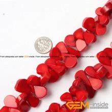 """Rouge Corail Perles Pour Bijoux Faire Des Perles DIY Perles Pour Bracelet Ou Collier Faisant de Gros Strand 15 """"Livraison Gratuite"""