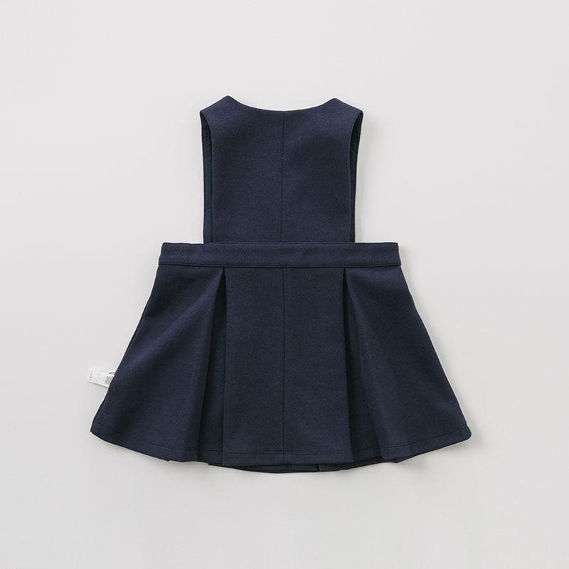 DB10159 dave bella bébé bleu marine robe filles sans manches printemps robes enfants filles robe enfants fête d'anniversaire boutique robe - 4