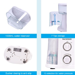 Image 4 - Nicefeel Oral Irrigator & Dental Water Flosser with 1000ml Water Tank + 7 Tips with Adjustable Pressure Water Pick