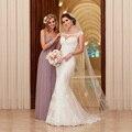 2017 Vestidos de Casamento Vestido De Novia Lace Vestido de Casamento Tribunal Trem Apliques Sereia Vestidos de Casamento Elegante Vestidos de Noiva