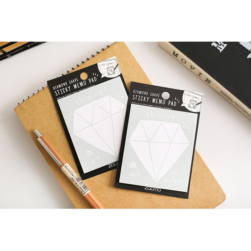 20packs lot Diamond Cute Creative Can Be Torn And Paste Convenient Message N Times Posted Note Book in Memo Pads from Office School Supplies