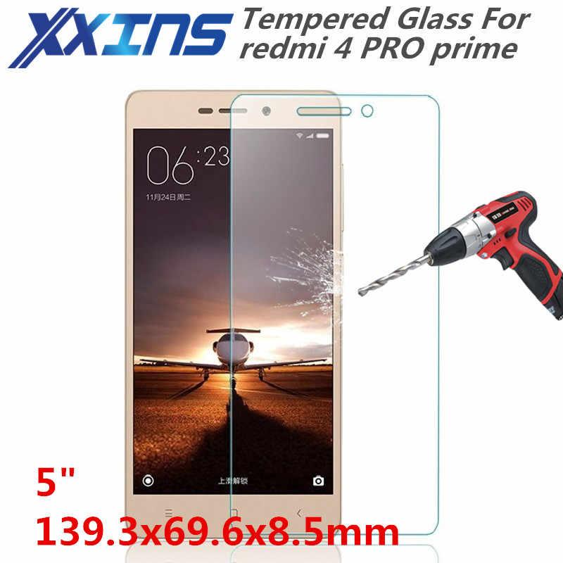 """Gehärtetem Glas Für redmi 4 PRO prime smartphone Bildschirm schutzhülle 5 """"zoll abdeckung rabatt kristalle freies geschenk"""