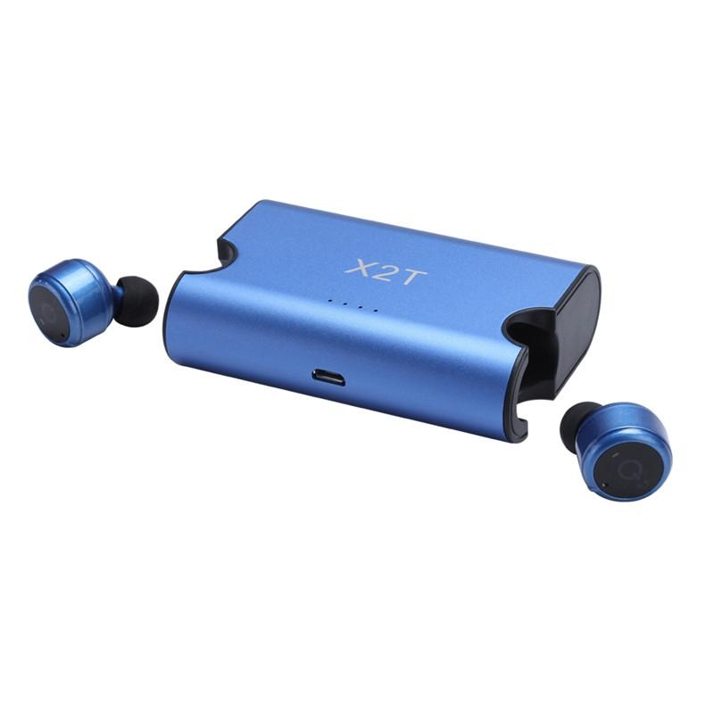 EastVita true Wireless Earbuds TWS X2T Mini Headphone Bluetooth 4.2 Earphone with charger box Box for ios and andriods