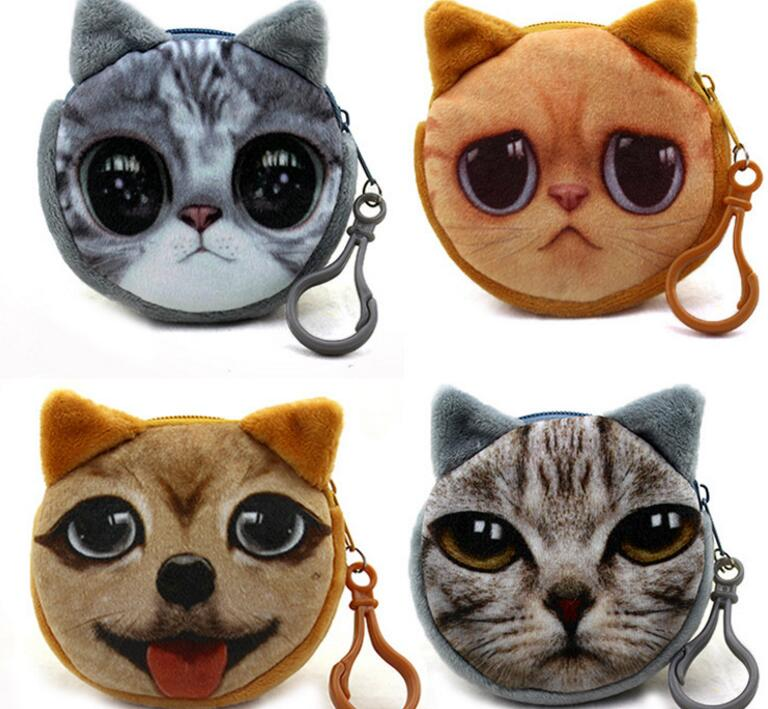 M400 Cute Meow Star Dog Buckle Plush Puppy Kitten GIRLS font b PURSE b font 3D