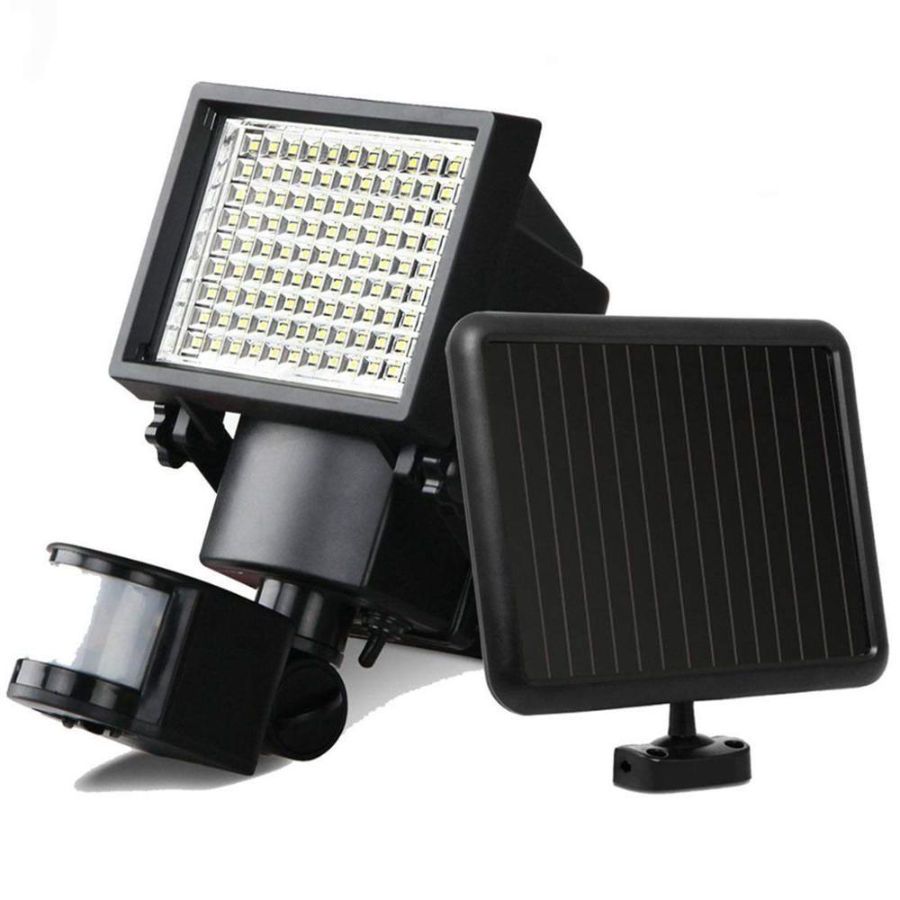 dcoo 60led luzes solares ao ar livre ultra brilhante sensor de movimento solar luzes de seguranca
