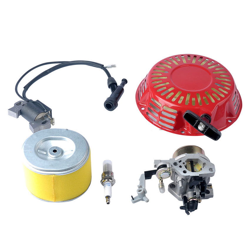 Carburetor Carb Ignition Coil Recoil Pull Starter Assembly FIT Honda GX240 GX270 8HP 9HP Engines Free Shipping rc boat ignition coil flywheel pull starter set for zenoah g260pum 290pum rcmk gasoline engine