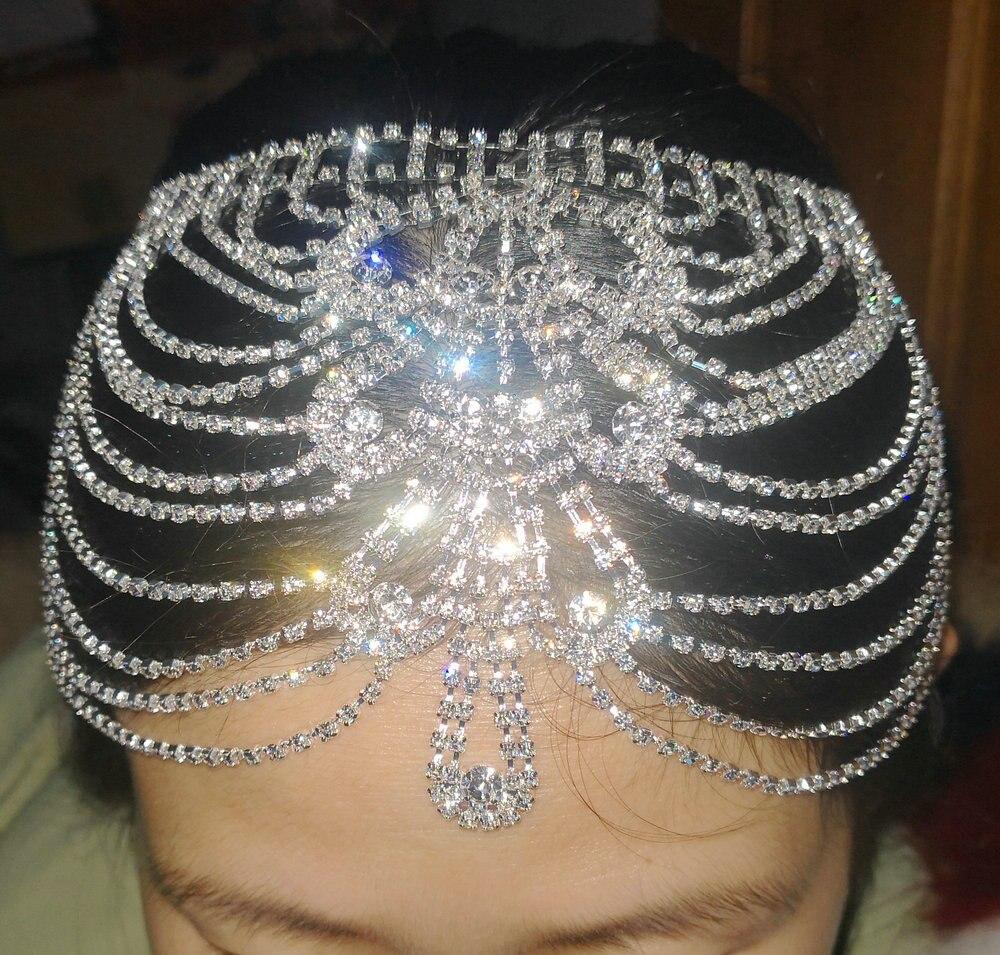 Joblot 12 pcs Sparkly Glass Crystal Mixed Colour Headbands NEW wholesale Lot 2