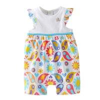 Bebini Kid Clothes Newborn Baby Girl Gift Summer Clothes Sleeveless Cotton New Print S White Blue