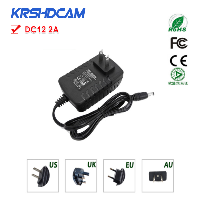 CCTV Camera Accessories Power adapter AC 100-240V DC 12V 2A EU Plug AC/DC Power adapter for CCTV Camera IP camera eu us 12v 2a power supply ac 100 240v to dc adapter plug waerproof for cctv camera ip camera surveillance accessories