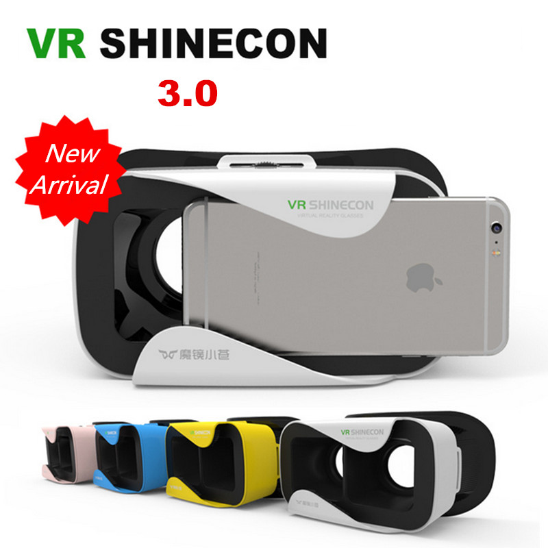 "<font><b>VR</b></font> Shinecon III Head-Mount Cardboard <font><b>Virtual</b></font> <font><b>Reality</b></font> <font><b>Glasses</b></font> Mobile 3D <font><b>Video</b></font> Movie <font><b>Glasses</b></font> 3 D <font><b>VR</b></font> Helmet <font><b>Park</b></font> for 4.7-6.0"" Phone"