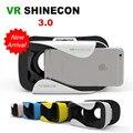 """Shinecon iii cabeça-montagem de papelão vr realidade virtual óculos 3d móvel Óculos de Filme de vídeo 3 D VR Capacete Park por 4.7-6.0 """"telefone"""