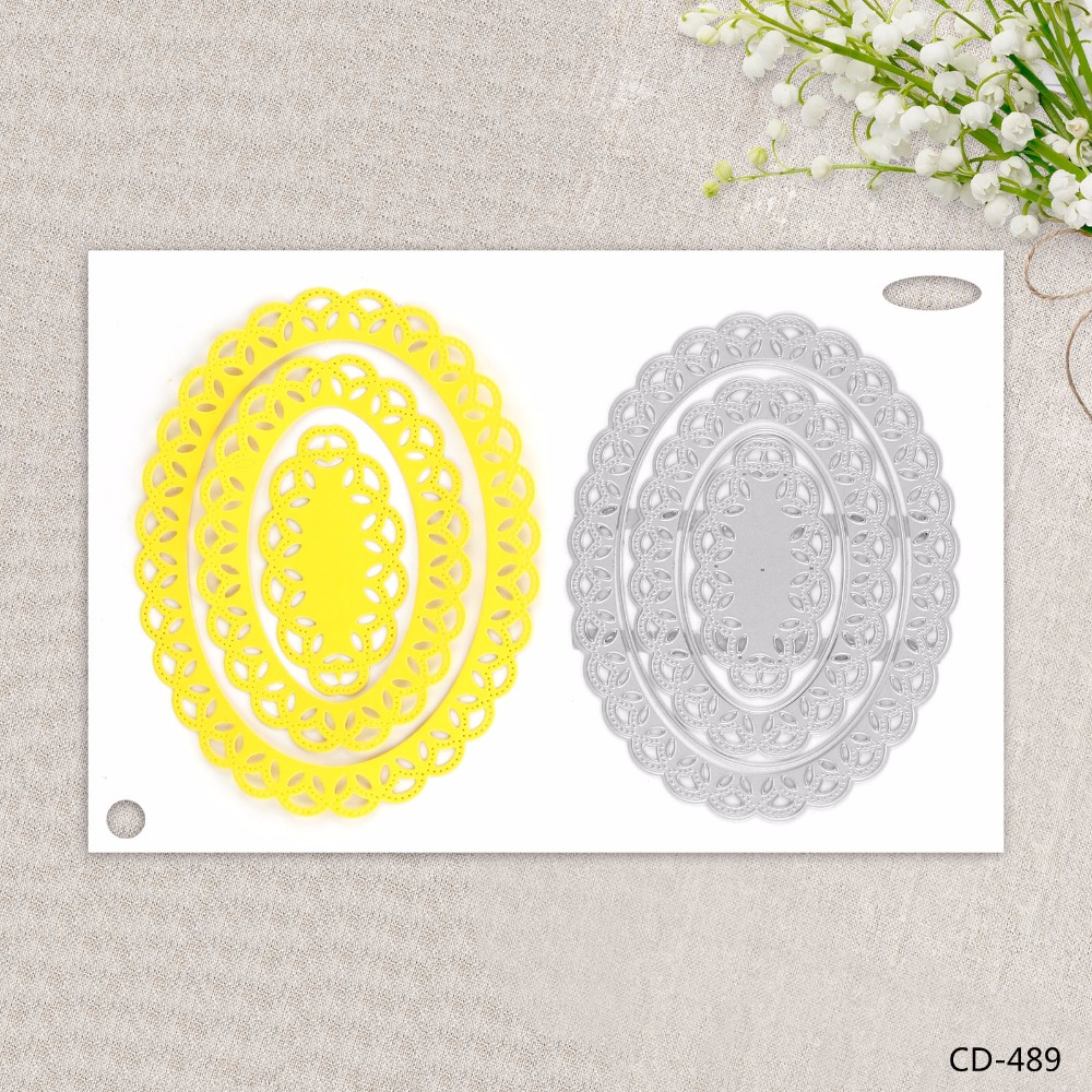 ZhuoAng Beautiful decorative pattern Metal Cutting dies for DIY Scrapbooking Photo Album ...