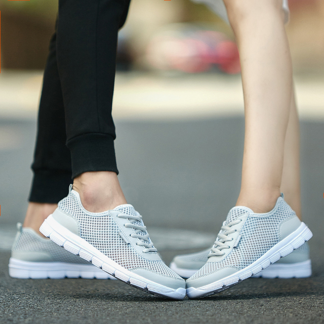 Любители Повседневная Обувь для Дыхания Воздух Сетки Лето Мужская Обувь Плоские Твердые Основные Обувь Открытый Ежедневно Zapatos Mujer 1607