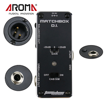 AROMA AMX-3 MATCHBOX D.I. Transfer Guitarra Guitar or Bass Signal to Audio System Mini Analogue Effect Pedal