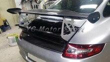Автомобиль Интимные аксессуары углерода Волокно GT4 Стиль спойлер багажника GT Крыло с frp База подходит для 2005-2011 Carrera 911 997 задний спойлер
