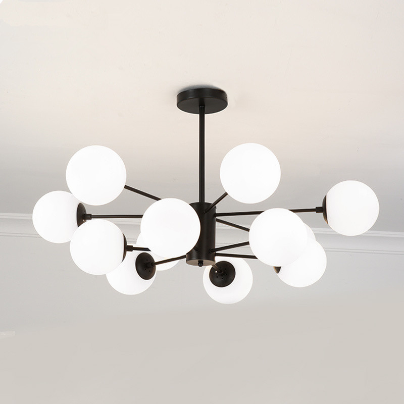 Modern Chandeliers Glass Ball Ceiling Lamp For Living Room