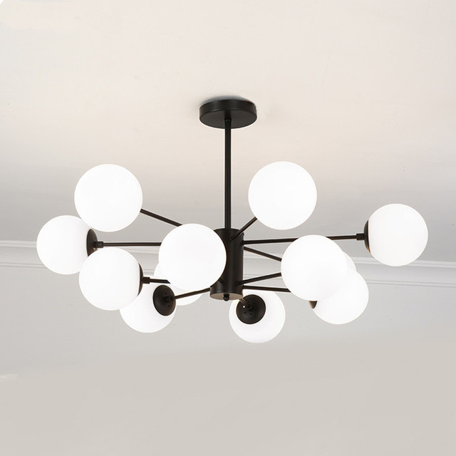 Modern Chandeliers Glass Ball Ceiling Lamp For Living Room Dna Round Hanging Pendant Kitchen Fixtures