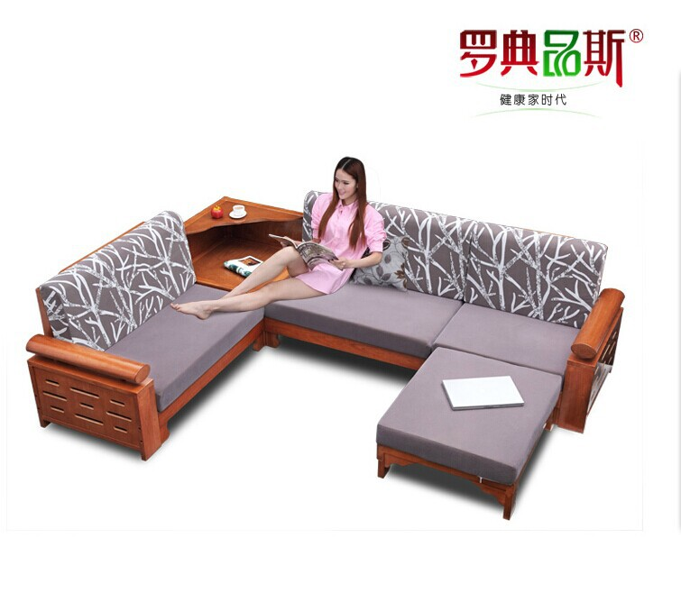 Chinese Style Wooden Furniture Living Room Combined Angle Type L Royal Oak  Solid Wood Sofa In Living Room Sofas From Furniture On Aliexpress.com |  Alibaba ...