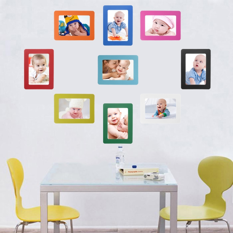 Aliexpress Buy Diy Colorful Magnetic Picture Frames Fridge