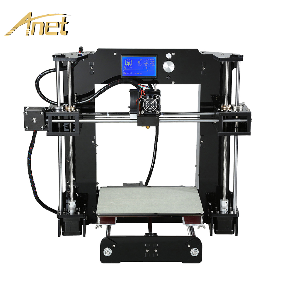 Анет A6 A8 Impresora 3D принтеры легко собрать с Автоматическое выравнивание большой Размеры Рождественские подарки Reprap i3 DIY принтеры SD карты