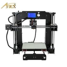 Anet A6 A8 Impresora 3d принтер легко собрать с автоматическим выравниванием Большие размеры рождественские подарки Reprap i3 DIY принтеры SD карты
